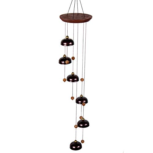 Agirlgle Bell Wind Chimes Outdoor,Temple Wind Bell 26'' Amazing Grace Wind Chime Indoor, Sympathy Wind Chime Remembrance Elegant Chime for Garden, Patio, Balcony and Home (Bronze)