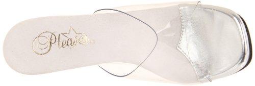 Zapatos Punta Abierta Con Tacón Mujer De Chic Transparente Pleaser 01 qPwp1Ef