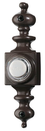 NuTone PB4LBR Wired Lighted Door Chime Push Button, Oil-Rubbed Bronze-Black