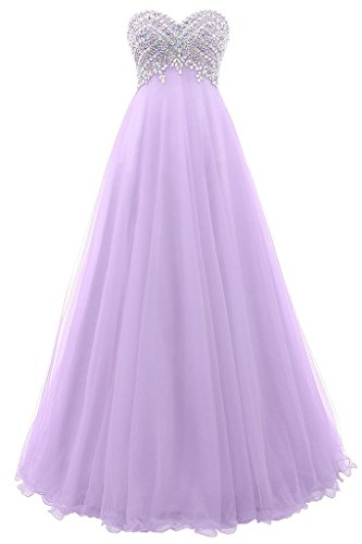 Prom Beaded Long Party Lavender Bridesmaid Women's Dresses DaaDress Dresses Sweetheart qY7x4TpWw