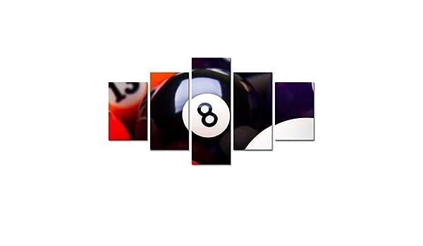 Billar tenis de mesa deportes entretenimiento cinco piezas de pintura Sala de estar en casa sala de billar bar fondo decoración pintura murales pintura mural,J, C: Amazon.es: Bricolaje y herramientas