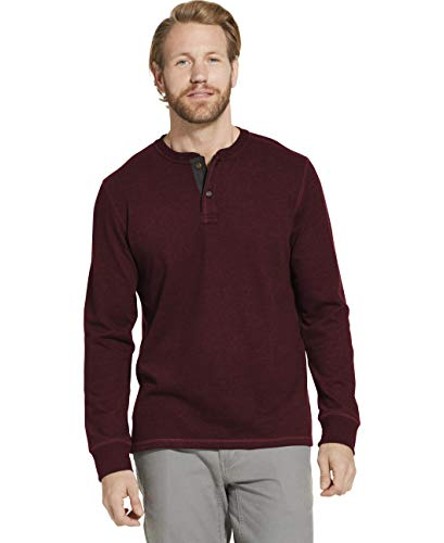 Dam Good Supply Co Men's Long Sleeve Henley 2XLB 2X-Large Big Tawny Port HTR from Dam Good Supply Co