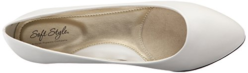 Darlene White Soft Flat Hush Style By Leather Puppies qxv1aUq