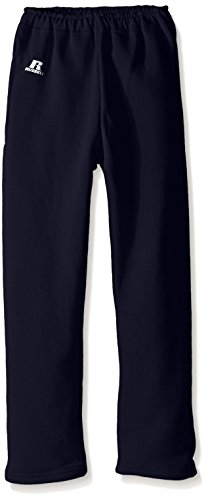 Russell Athletic Boys Youth Dri-Power Fleece Open Bottom Pocket Pant, Navy ()