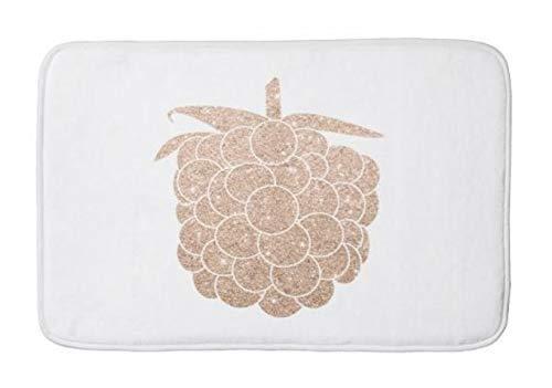 JULYE Elegant Chick Rose Gold Glitter Berry Absorbent Super Cozy Bathroom Rug Doormat Welcome Mat Indoor/Outdoor Bath Floor Rug Decor Art Print with Non Slip Backing 24