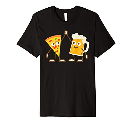 Cool High Five With Pizza And Beer T-Shirt For Boys & -