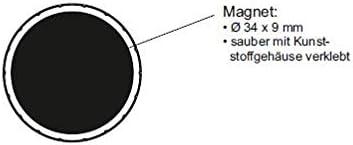 15 x 7 mm 6161502 150 g Haftkraft bruchsicherer Kunststoff Rundmagnet Magnet Maulsolid wei/ß 10 St/ück