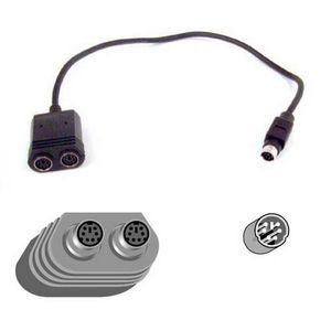 Belkin Notebook Y-splitter Cable (F3G117-01) - 6 Pin Mini Din Splitter