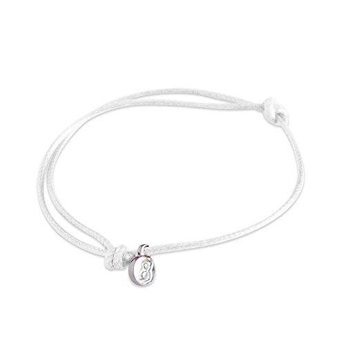 - st8te - Adjustable Men's Women's Rope Anklet. Adjustable Waterproof Anklet XL Bracelet Finishes (White)