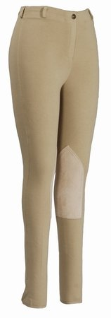Ladies Cotton Knee Patch Breeches - 9