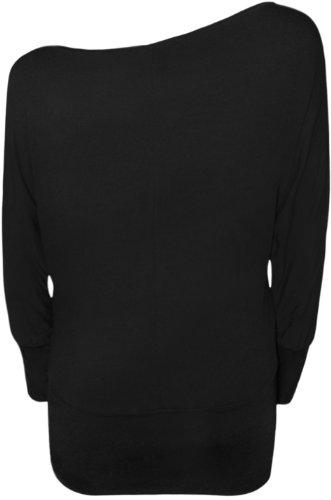 WearAll Women's Off-Shoulder Batwing Top