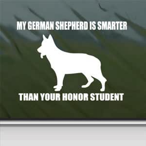 Amazon Com German Shepherd White Sticker Dog Funny Laptop