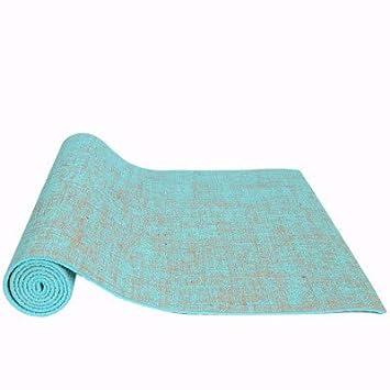 EVEYYGD Antideslizante 183 * 61 cm Lino Estera de Yoga de ...