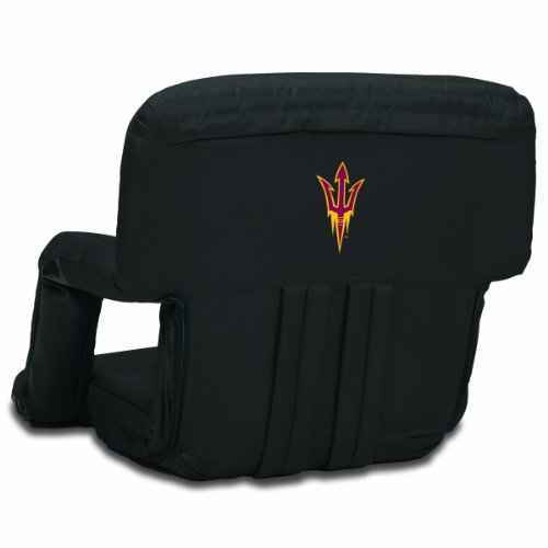 NCAA Arizona State Sun Devils Ventura Portable Reclining Seat, Black