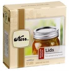 Kerr Regular Mason Jar Canning Lids, 96 lids, (8 dozen), (Lids Only; No Rings), BULK. (Canning Dome Lids Jar)