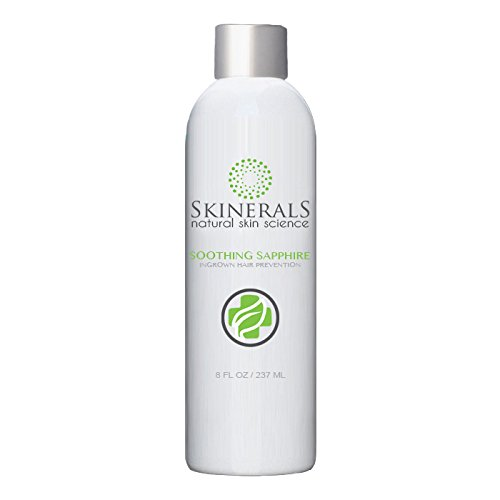 Skinerals Ingrown Hair Prevention Soothing Sapphire with Organic and Natural Ingredients for Razor Bumps and Prevent Acne