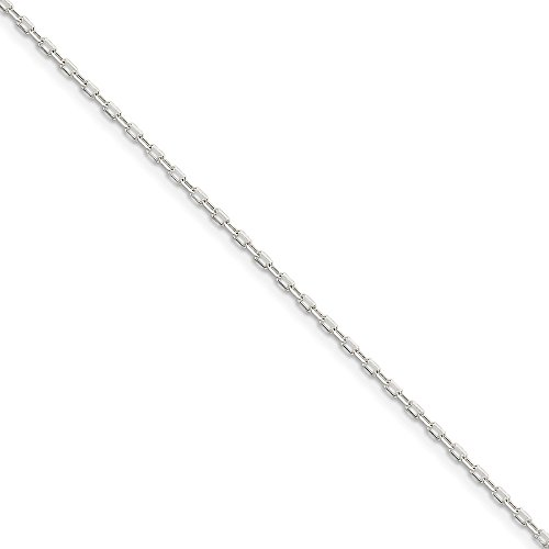 24' Diamond Cut Cable Chain (Roy Rose Jewelry Sterling Silver 1mm 8 Sided Diamond Cut Cable Chain 24'' length)