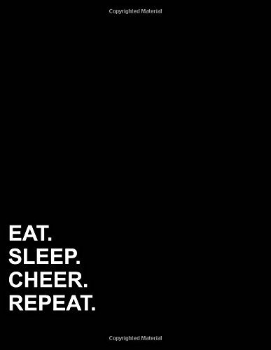 "Download Eat Sleep Cheer Repeat: Four Column Ledger Bookkeeping Ledger Book, Bookkeeping Ledger For Church, Ledger Receipt Book, 8.5"" x 11"", 100 pages (Volume 71) pdf"