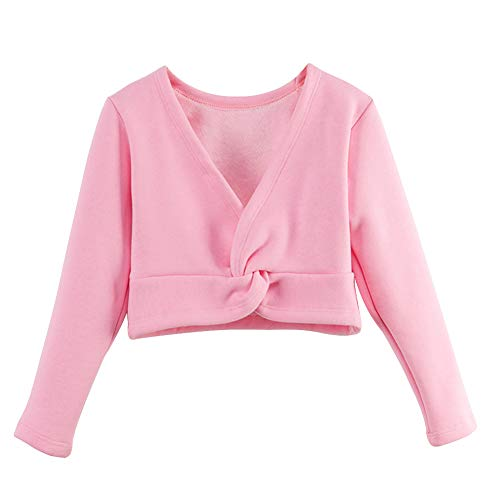 Ballet Long Sleeve Tee - Lisianthus Girls' Classic Thick Ballet Long Sleeve Wrap Top (3-4T=Tag 120, Deep Pink)