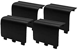 KELIFANG Replacement Battery Cover Door Compatible with Xbox One, Xbox One S Controller, Battery Back Shell Repair Part Compatible with Xbox Wireless Controller (4 Pack, Black)