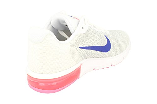 brand new b445a 20a32 ... Nike Dames Air Max Sequent 2 Loopschoen White Concord Laser Roze 146 ...