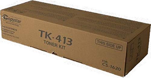 - Kyocera 370AM016 Model TK-413 Black Toner Kit For use with Kyocera KM-1620, KM-1635, KM-1650, KM-2020 and KM-2050 Multifunction Printers; Up to 15000 Pages Yield at 5% Average Coverage