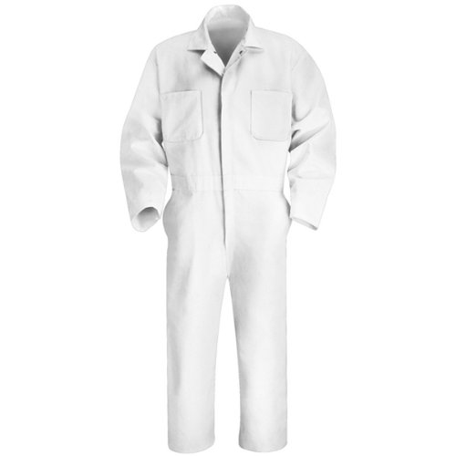 Red Kap Men's Twill Action Back Coverall, White, 46