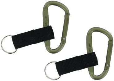 [해외]2PK VAS 8 80mm OD Green Aluminum Snap Link Carabiner w Black Key Ring Strap- Biner N Things Ships OD Green / 2PK VAS 8 80mm OD Green Aluminum Snap Link Carabiner w Black Key Ring Strap- Biner N Things Ships OD Green