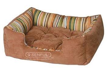 Senful Caseta para Perros Gatos con cojín Peluche ultrablanda Lavable en Lavadora (L): Amazon.es: Productos para mascotas