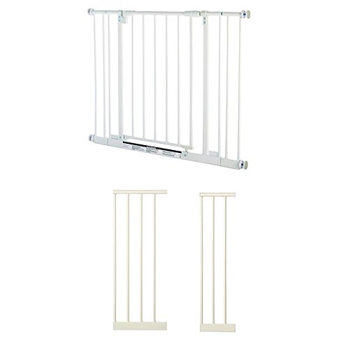 North States Easy-Close Metal Baby Pet Safety Gate w/ 7 and