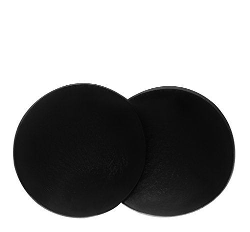 SodaCoda Women's 360g/pair - Round Soft Silicone Pads - for Bum Butt Push Up - Black (Silicone Booty Pads)