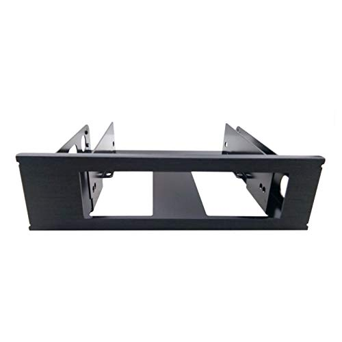 TOOLFREE MRA916 5.25 inch to 3.5 inch Drive Bay Mounting Bracket Black Aluminum