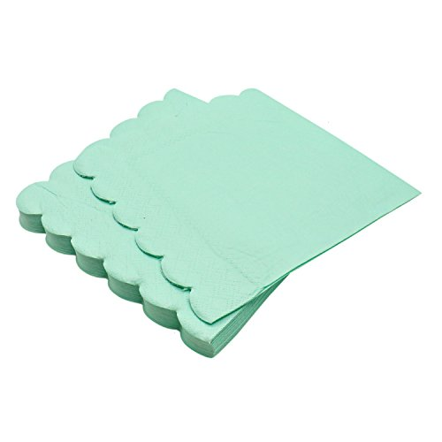 Buorsa 40 Sheets Fresh Mint Green Napkins Disposable Paper Napkins for Wedding Party Restaurant