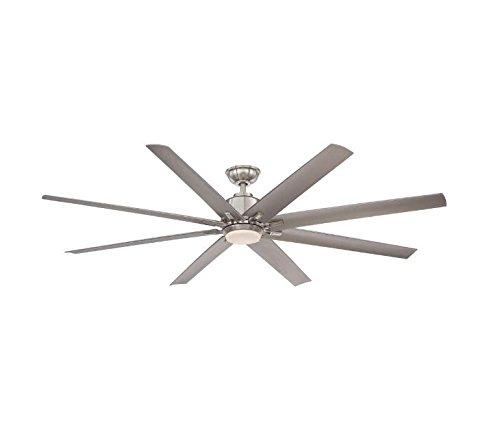 [Home Decorators Collection Kensgrove 72 in. Brushed Nickel LED Ceiling Fan - With Remote] (72