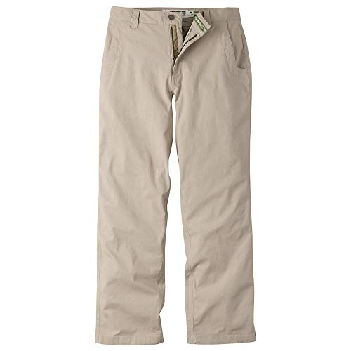 Mountain Khakis Mens Pants: All Mountain Pant Slim Fit - Low-Rise Stretch Organic Cotton Canvas