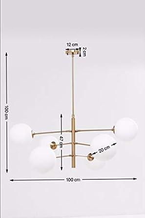 Kare Planets 6-Lámpara de Techo, Multicolor: Amazon.es: Iluminación