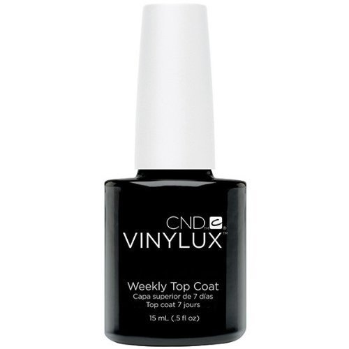 CND Vinylux Weekly Top Coat, Clear 0.5 fl oz (15 ml) by CND Cosmetics