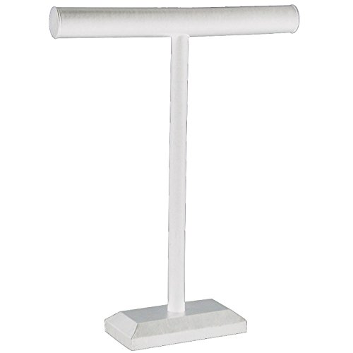 T-Bar Tall White Leatherette Measures 14