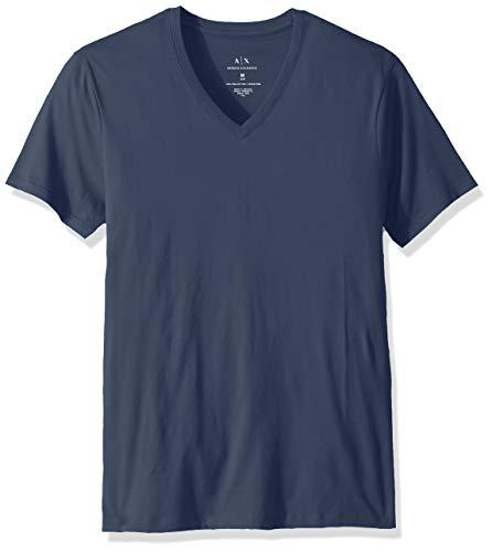 A|X Armani Exchange Men's Pima Cotton Jersey Short Sleeve Tshirt, Sargasso sea, XXL ()