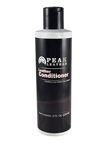 Leather Conditioner By Peak Leather - Best For Car / Vehicle Interiors, Couches, Purses, Boots, Furniture And More - Balanced Formula Gives Smooth, Supple Feel & Look. Made in the USA!