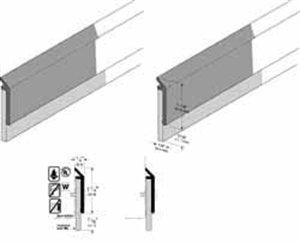 Pemko Door Bottom Sweep, Clear Anodized Aluminum