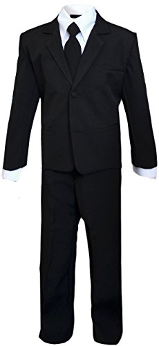 Kids Slenderman Agent Black Suit Costume Only Size 8 (Kids Secret Agent Costume)