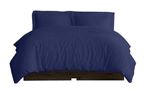 - KETHER Duvet Cover 3 Piece Set Queen Size 90 x 90 Inch - Ultra Soft Double Brushed Microfiber Hotel Collection - (Solid Royal Blue) Comforter Cover with Zipper Closure and 2 Pillow Shams.