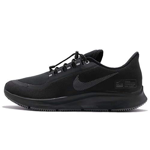 Nike Mens Air Zoom Pegasus 35 Shield Running Shoes, Black Metallic Silver-Night Maroon