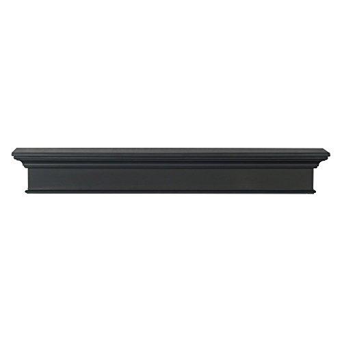 Pearl Mantels Henry 48-Inch Mantel Shelf, Black