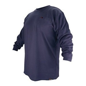 Revco FTL6-NVY Navy Blue Flame Resistant Cotton Long-sleeve T-Shirt, X-Large