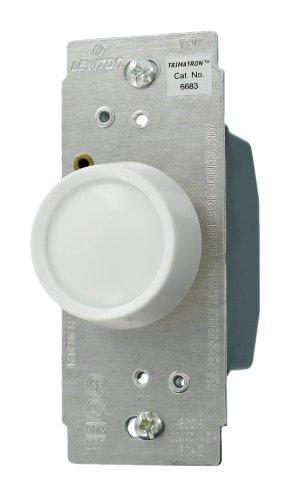 Leviton 6683-10Z 600 W 120-Volt Rotary Push On/Push Off 3-Wa