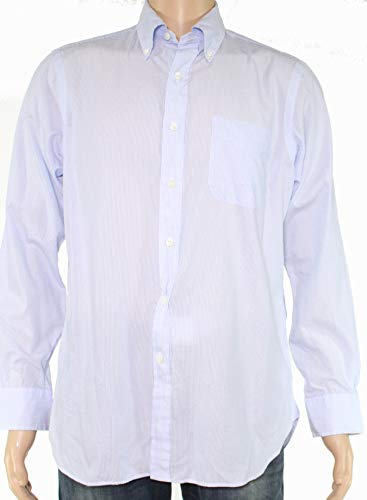 (Ralph Lauren Mens Medium One Pocket Pinstriped Dress Shirt Blue M)