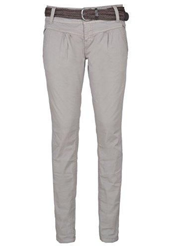 Urban Surface Damen Chino-Hose mit Flechtgürtel aus Baumwolle middle-grey M