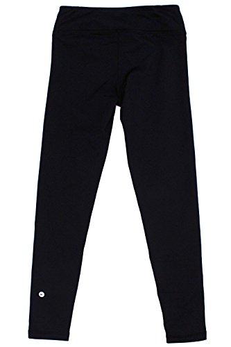 45ce5f55d4980 90 Degree By Reflex Kids Girls Juniors - Fleece Lined Yoga Leggings - Black  L (